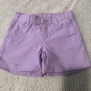 Lilac colored shorts from Gap